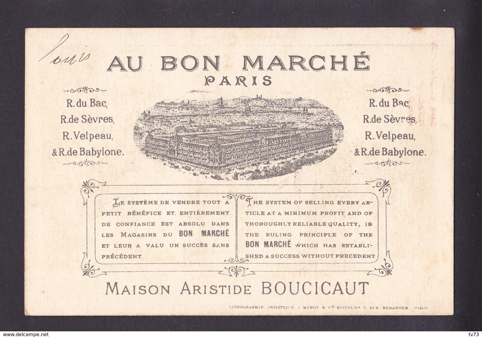 R456 - Chromo - Au Bon Marché Paris - La Tour Eiffel ( Jeu Jouet ) - Au Bon Marché