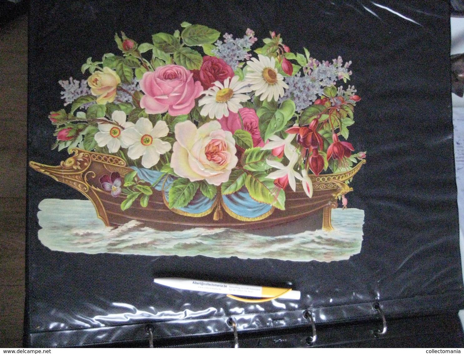 SCRAPS Van Vóór 1900, Alle Maten In 19 Mappen +7 Mappen RECLAME 20cmX15cm +10 Albums De Collection 1880 à 1890 Relief - Chocolat
