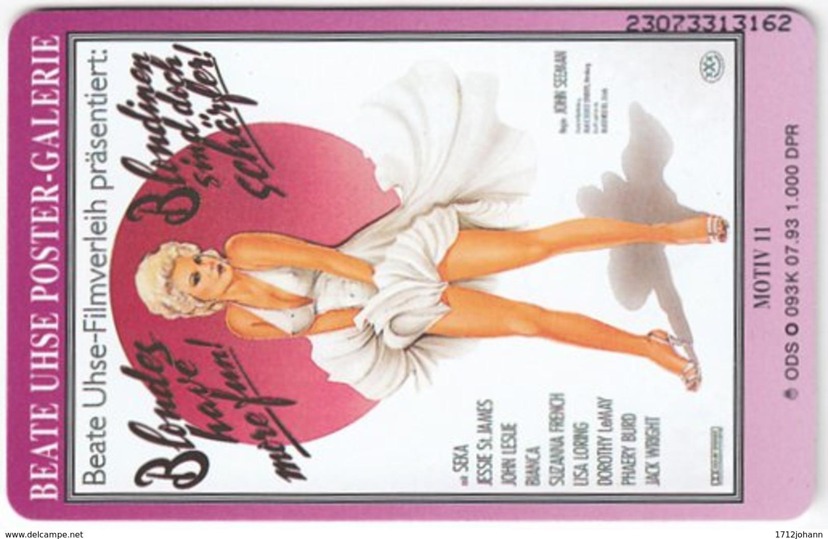 GERMANY O-Serie B-683 - 093K 07.94 - Woman, Erotic, Beate Uhse - Used - Deutschland