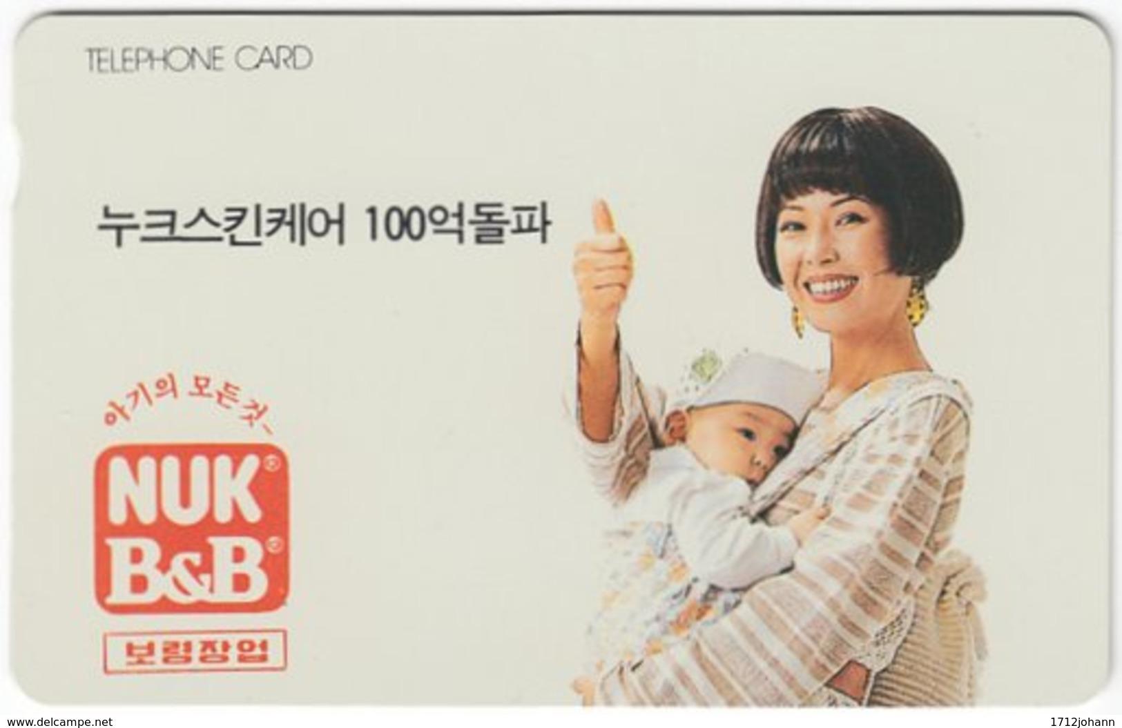 SOUTH KOREA B-193 Magnetic Telecom - People, Family - Used - Korea (Süd)