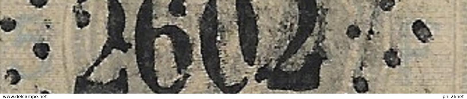 France      N° 33A  5 Et F En Bleu  RRR   Oblitéré GC 2602 Nantes TB Sans Défaut   Soldé  à Moins De 15 %  ! ! ! - 1863-1870 Napoleon III Gelauwerd