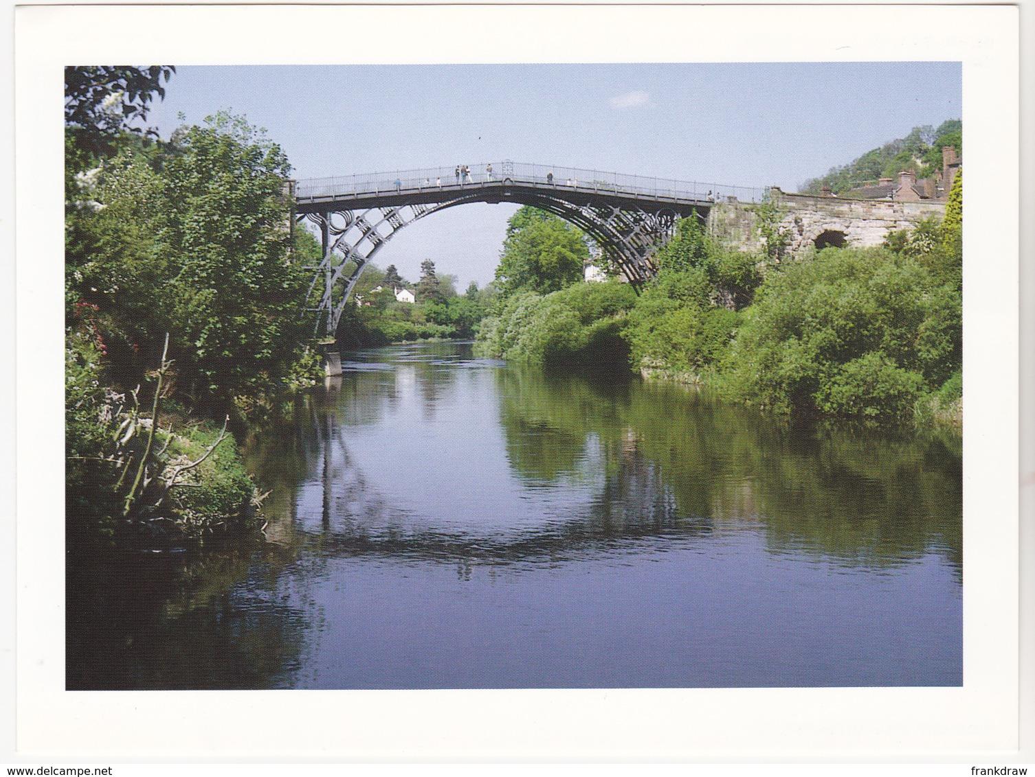Postcard - Iron Bridge Over The River Severn, Shropshire - Photo By Ivan J Belcher - VG - Unclassified
