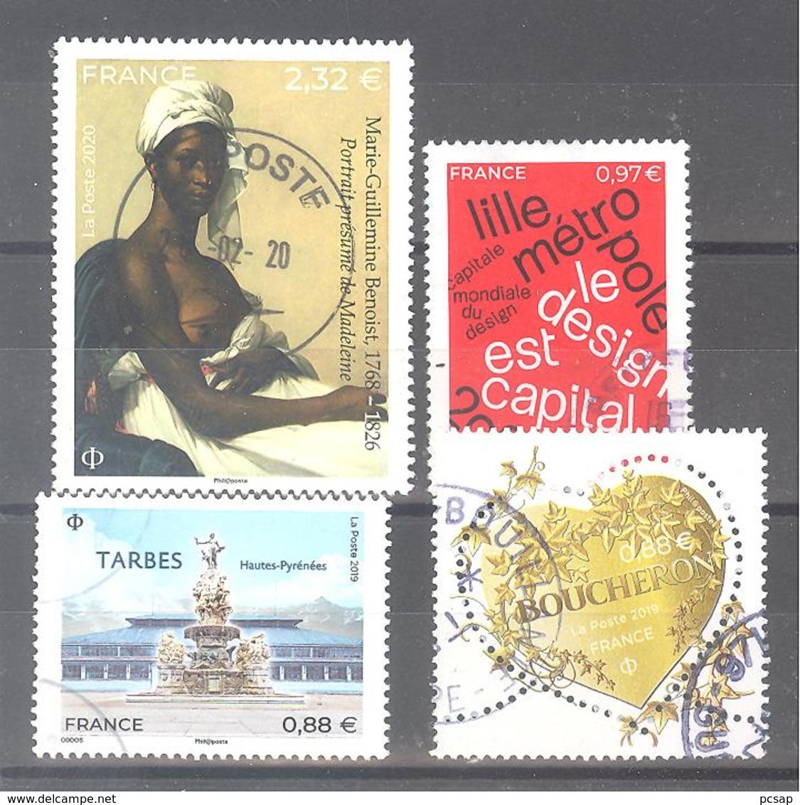 France Oblitérés : Marie Guillemine Benoist - Lille - N° 5292 & 5335 (cachet Rond) - Francia