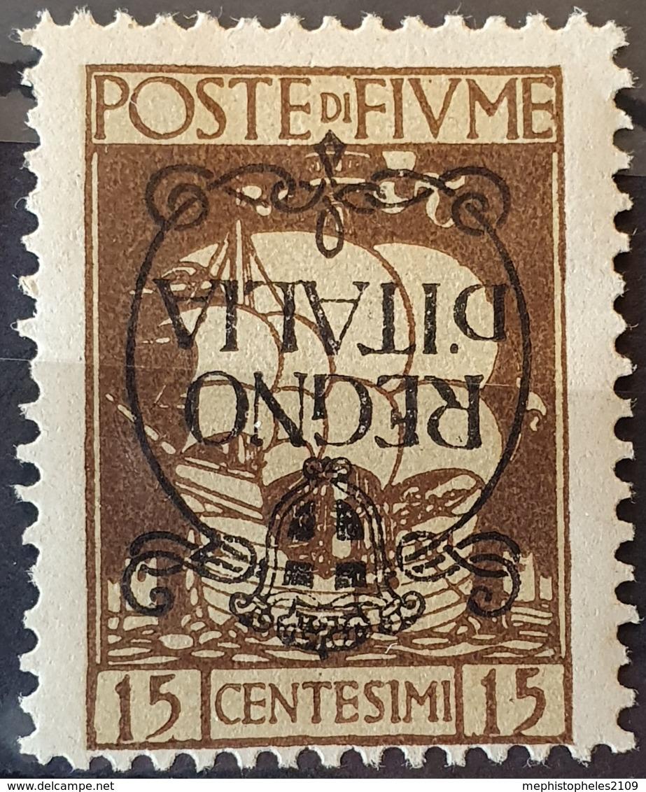 "FIUME 1924 - Canceled - Sc# 186a - 15c - ""Regno D'Italia"" - 8. Besetzung 1. WK"
