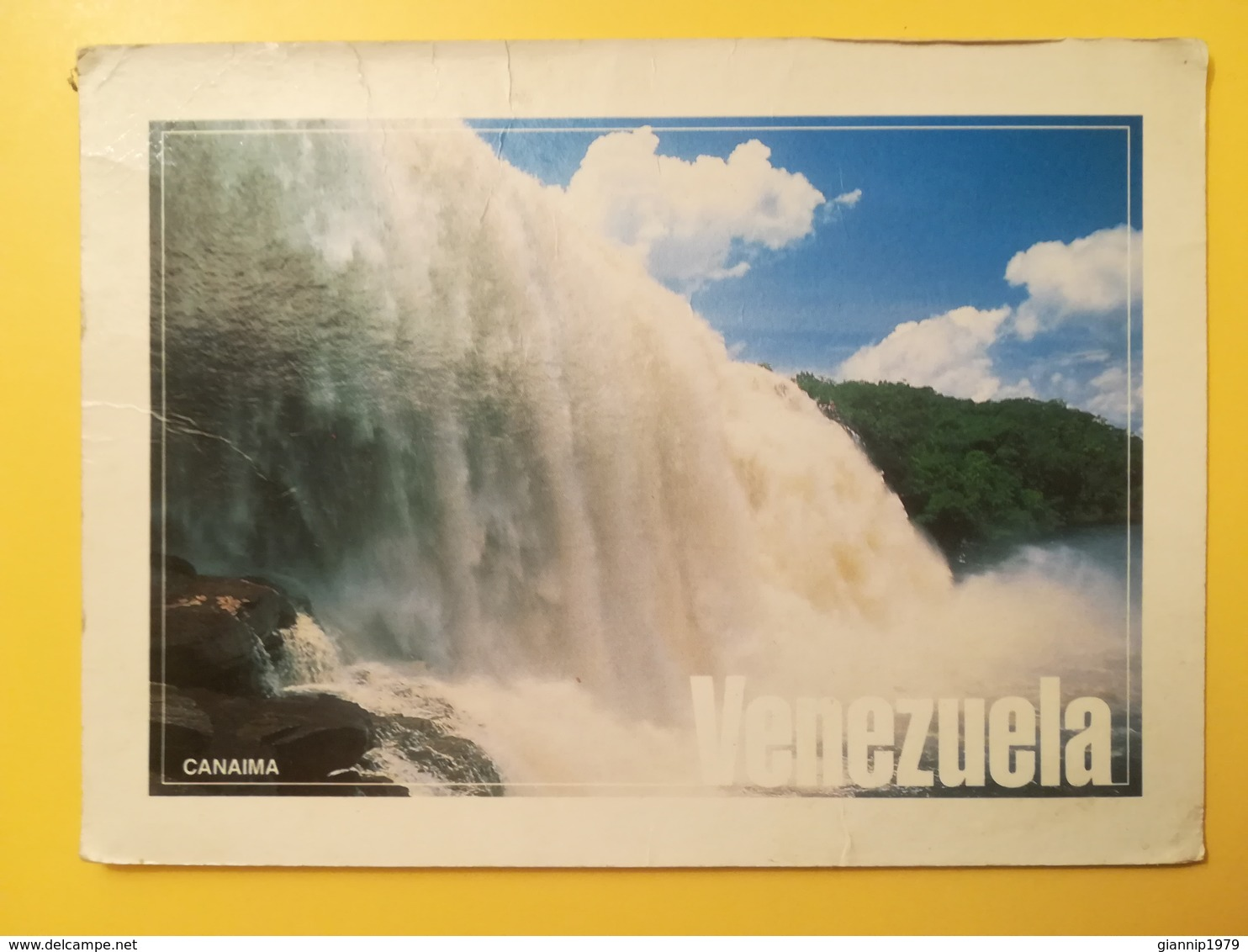 CARTOLINA POSTCARDS VENEZUELA 1994 CANAIMA EL SALTO EL SAPO FALLS - Venezuela