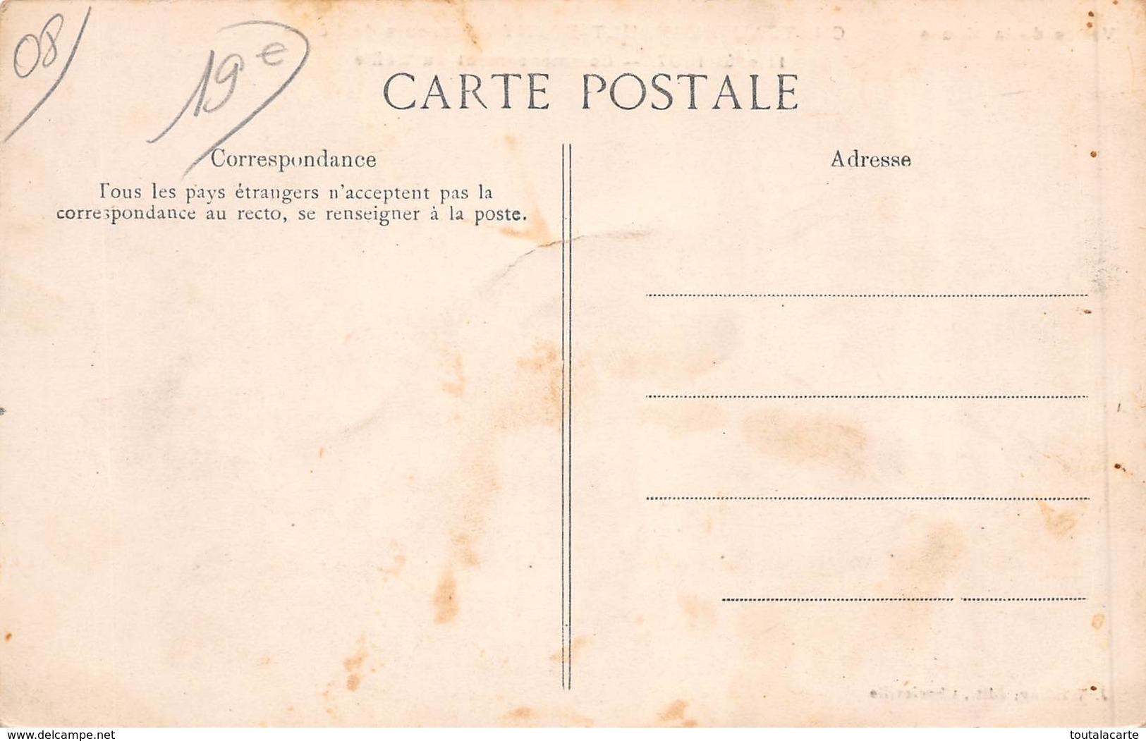 CPA 08 CHATEAU REGNAULT BOGNY CONCOURS DE PECHE 11 AOUT 1907 - Other Municipalities
