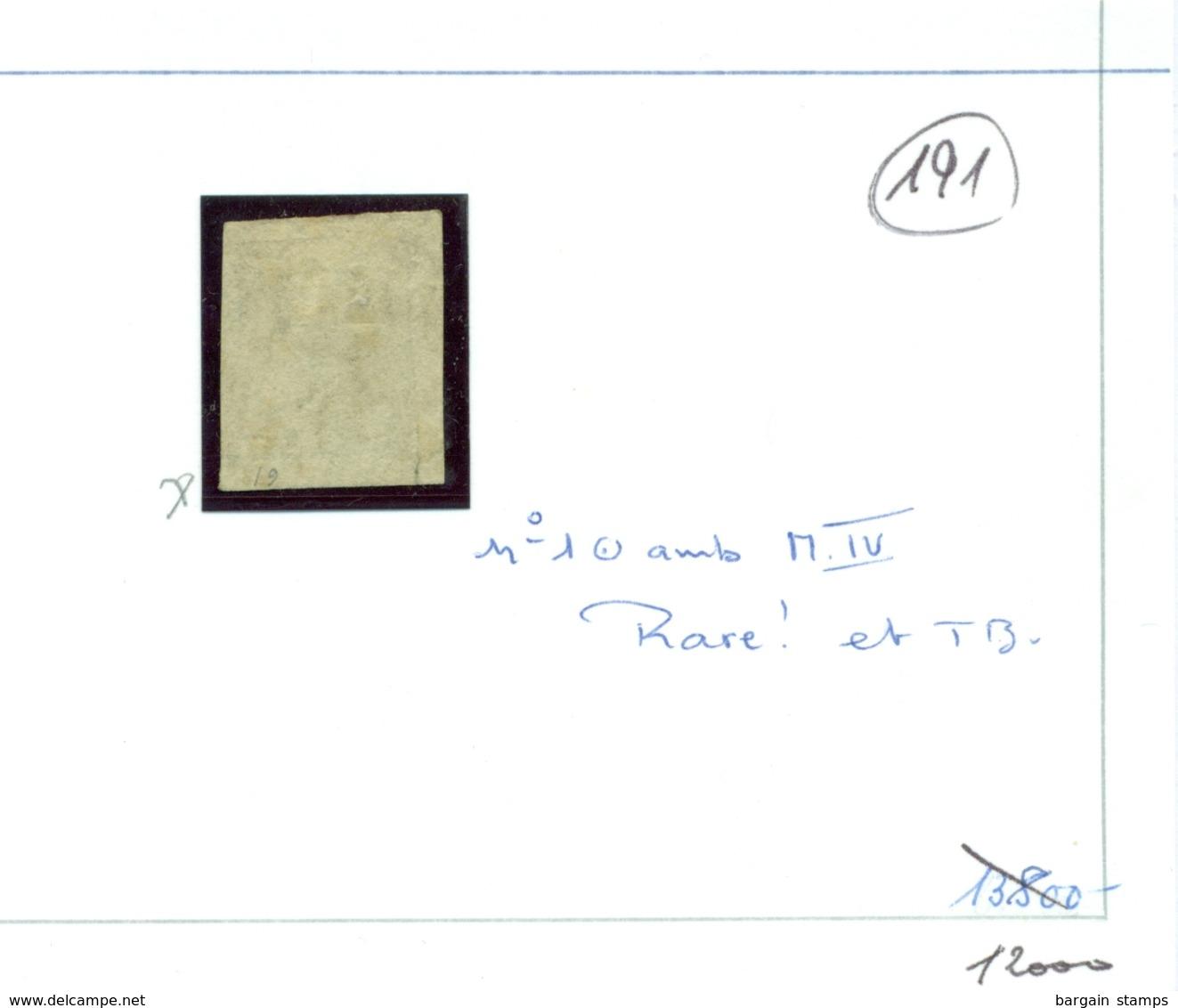 Belgique - COB 1 Oblitéré Ambulant M.IV - 1849 Epaulettes