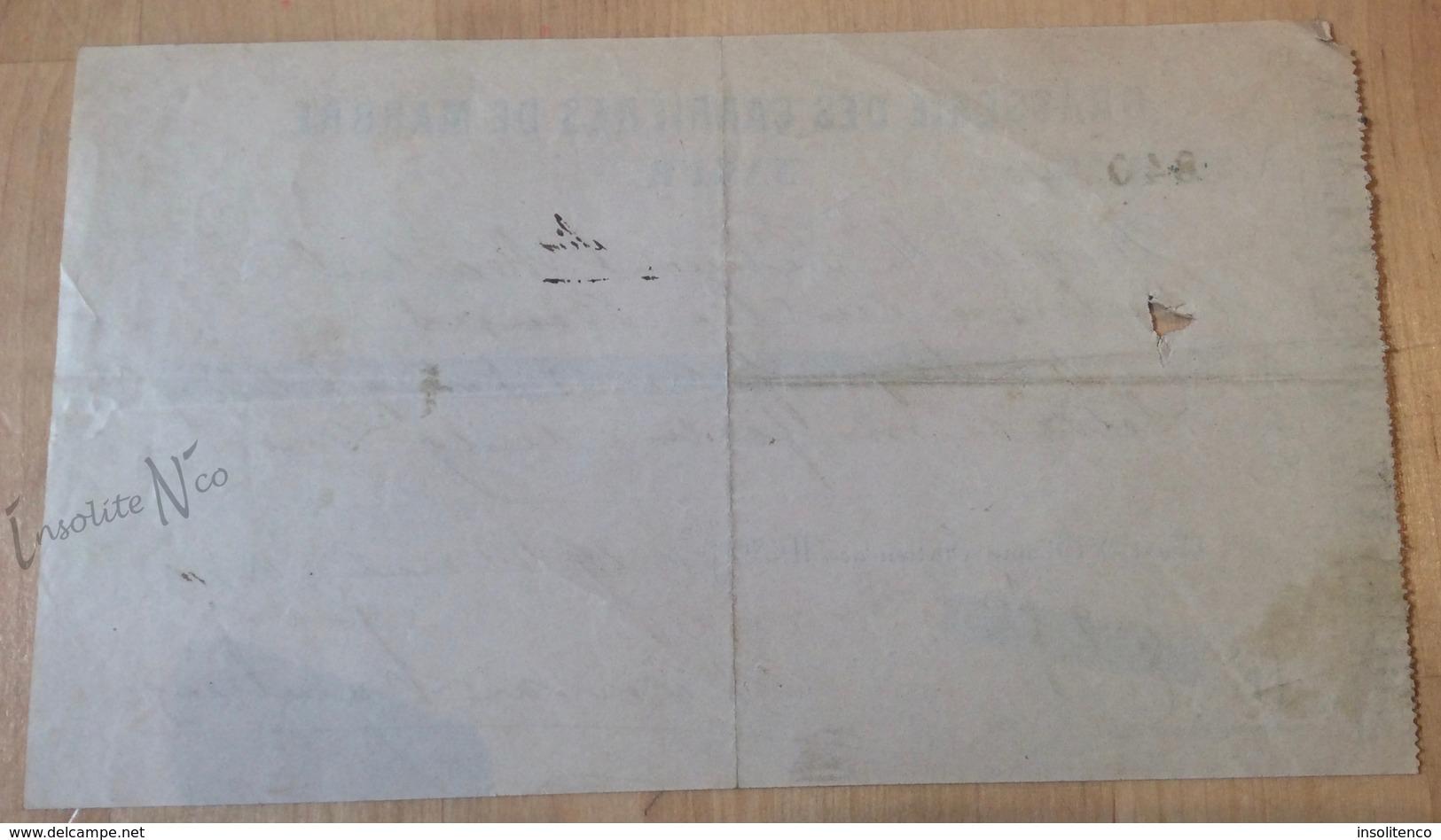 Rare Reçu De La Brasserie Des Carrières De Marbre De Namur - Datée De 1879 - 1800 – 1899