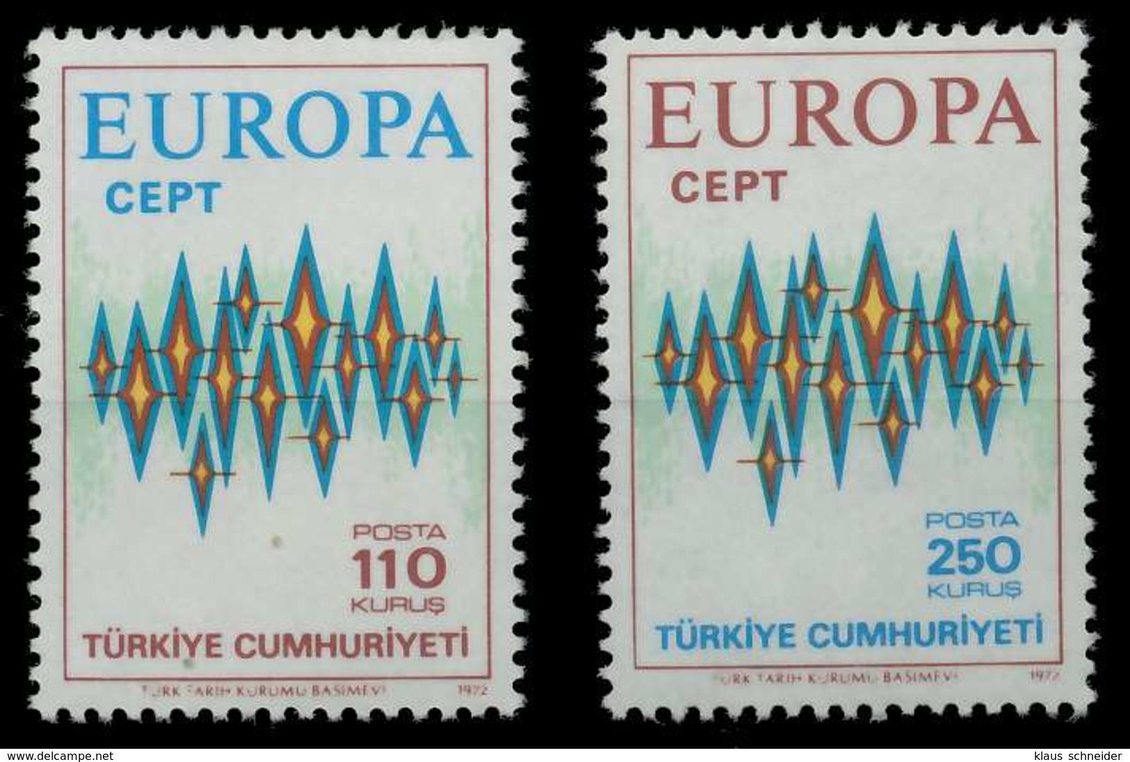TÜRKEI 1972 Nr 2253-2254 Postfrisch SAC2C4A - 1921-... Republik