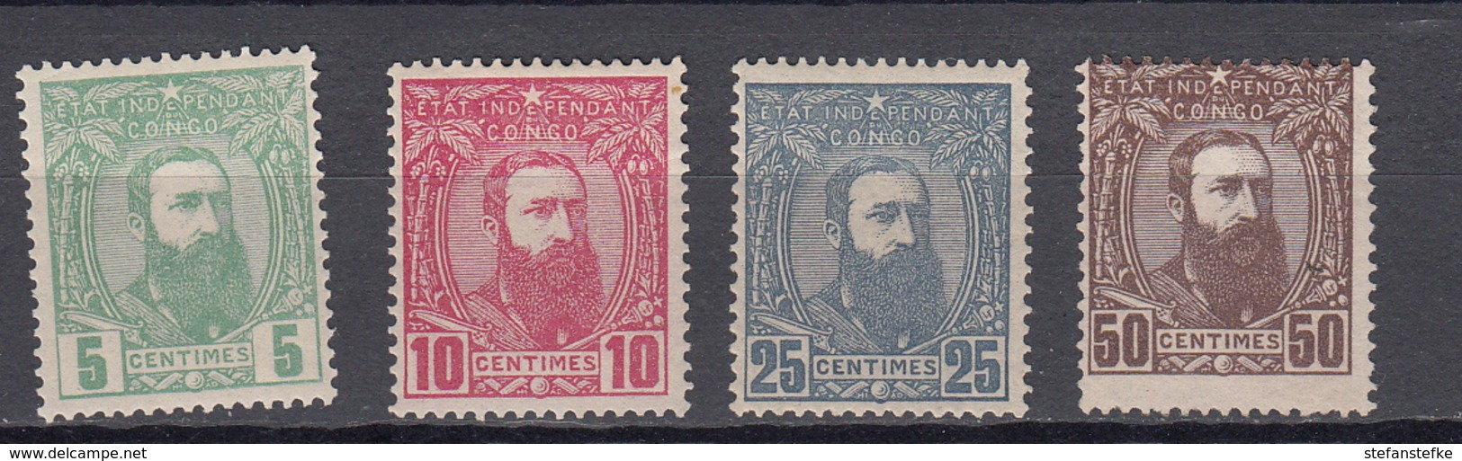CONGO BELGE  : Ocb Nr 6 - 9 * MH   (zie Scan)  Le 9 SANS GOMME - 1884-1894 Precursors & Leopold II