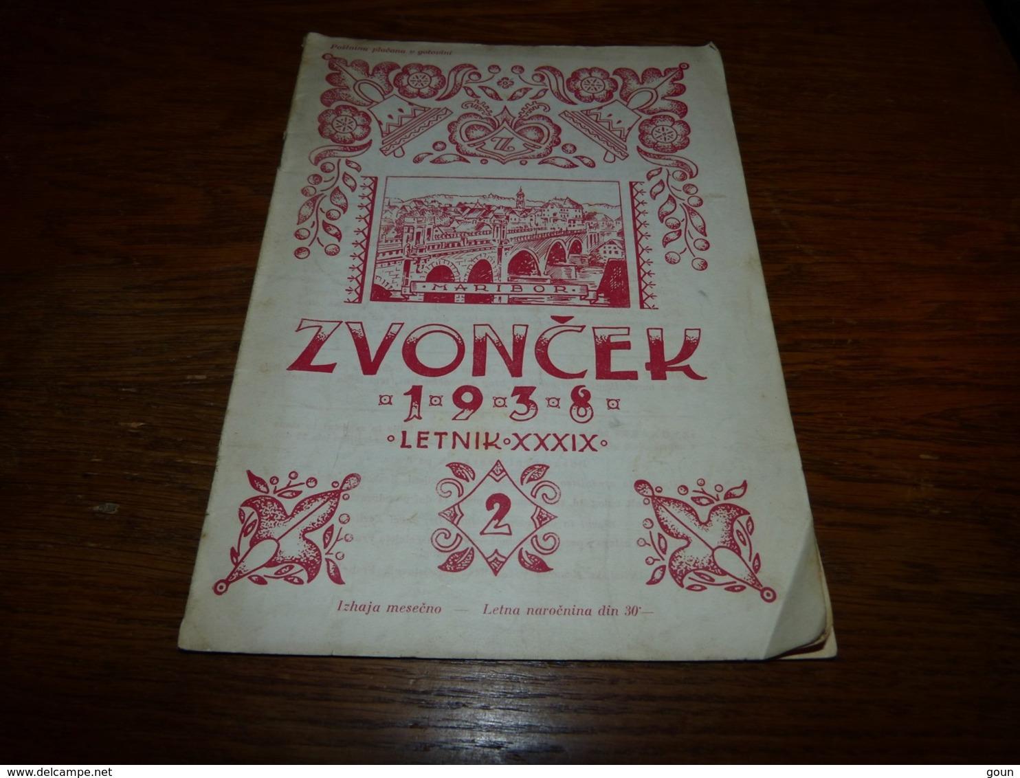 Zvoncek 1938 Letnik - Livres, BD, Revues