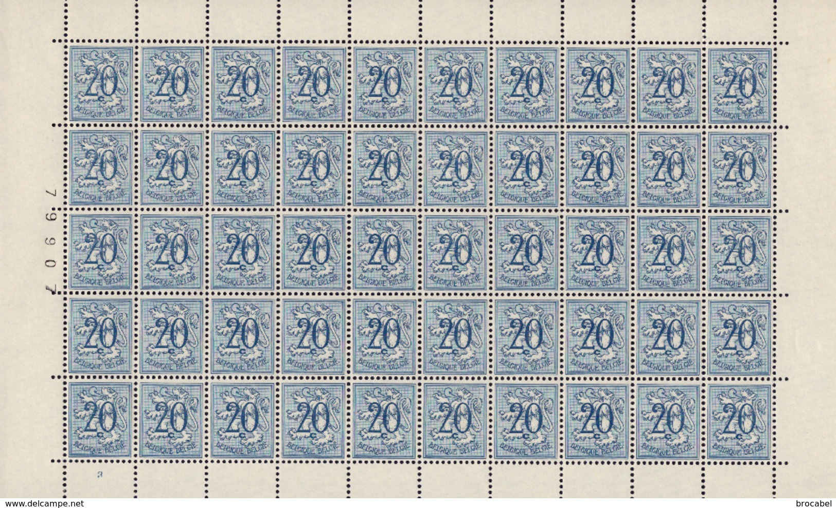 Belgium 0841**  4 Feuilles / Sheet De 50** MNH Planche 1,2,3,4 Départ 1 € ( Action18avril ) - Feuilles Complètes