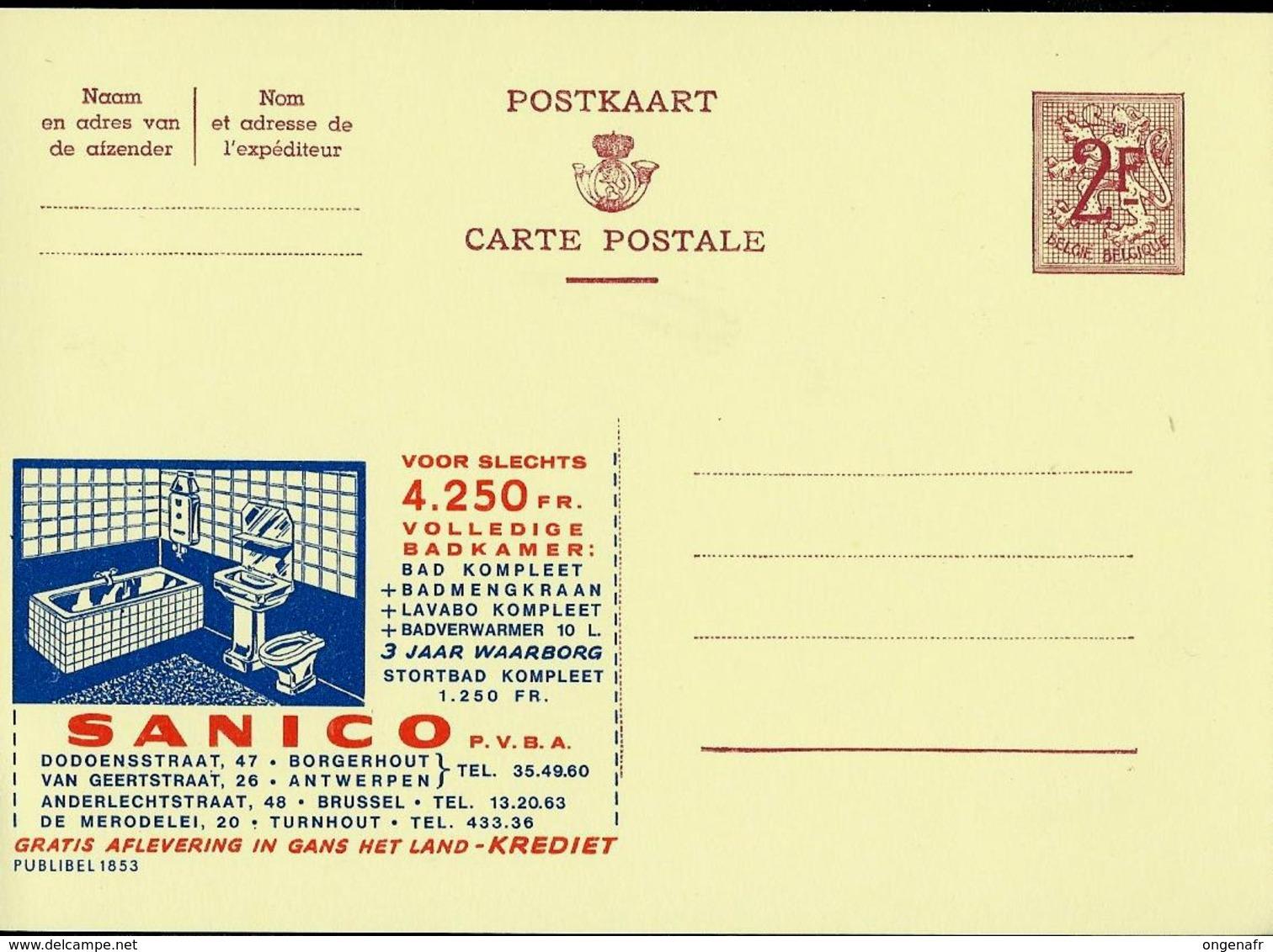 Publibel Neuve N° 1853  ( SANICO  Salle De Bains ) - Entiers Postaux