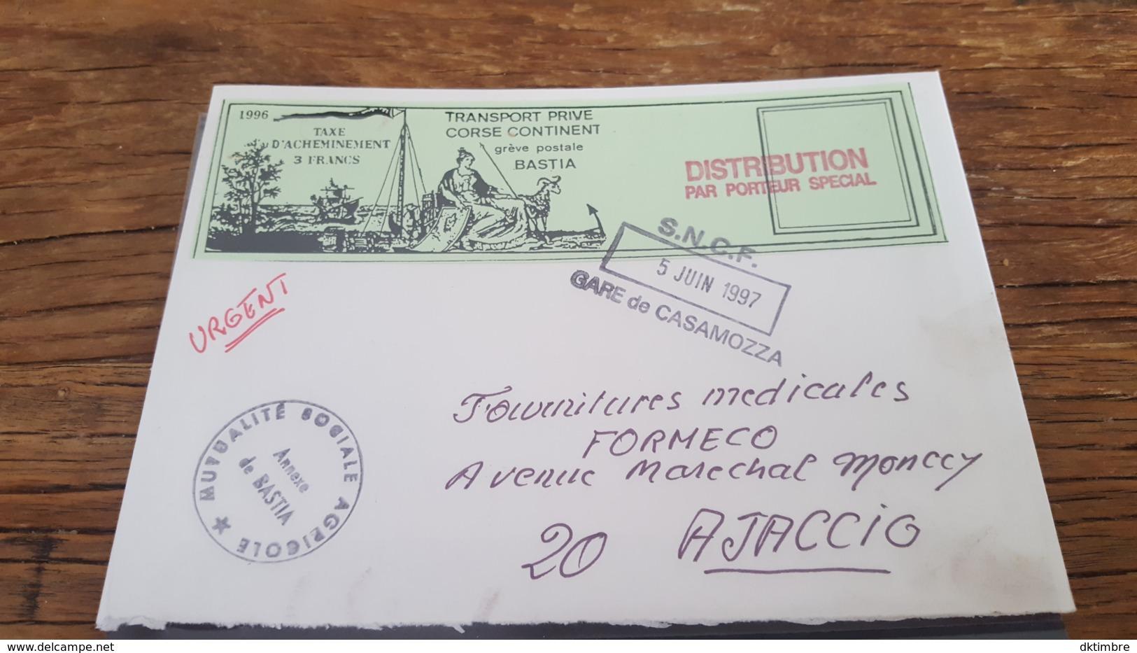 LOT 495216 TIMBRE DE FRANCE OBLITERE GREVE DE CORSE BLOC - Strike Stamps