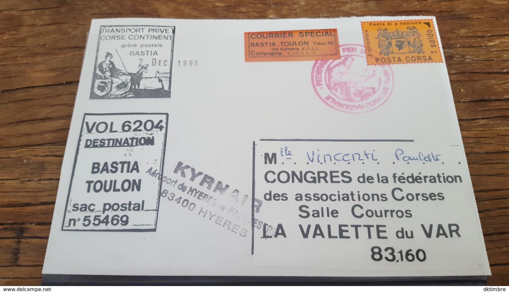 LOT 495223 TIMBRE DE FRANCE OBLITERE GREVE DE CORSE BLOC - Grève