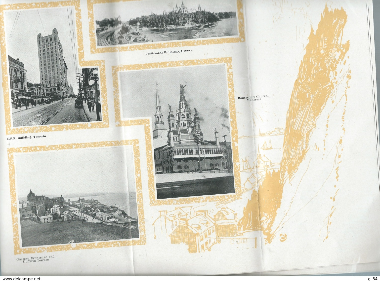 """Important Dépliant Touristique Vers 1920 ( 60 Pages ) """" The Canadian Pacific Route """"   Mald70 - Tourism Brochures"""