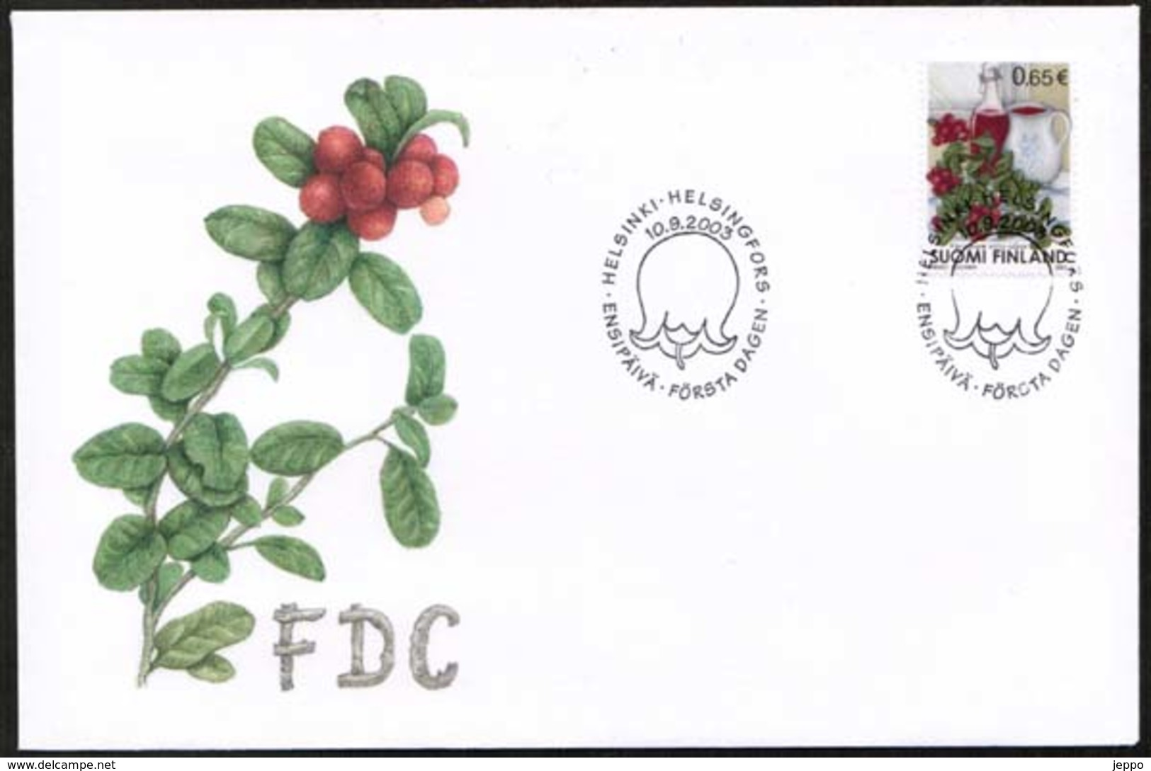 2003 Finland, Lingonberries FDC. - FDC