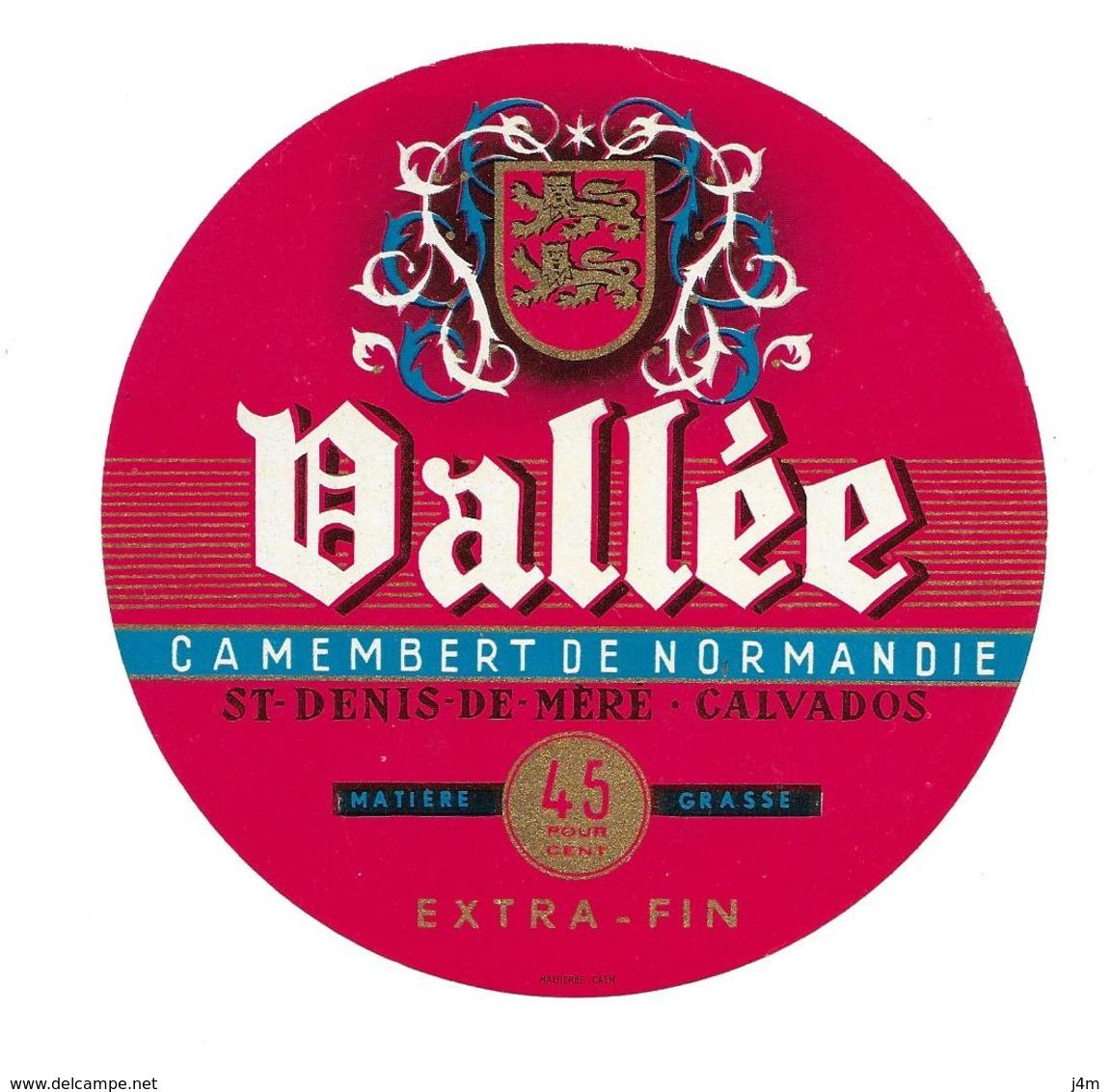 ETIQUETTE De FROMAGE. CAMEMBERT De NORMANDIE.. VALLEE...St DENIS De MERE (Calvados 14) - Formaggio