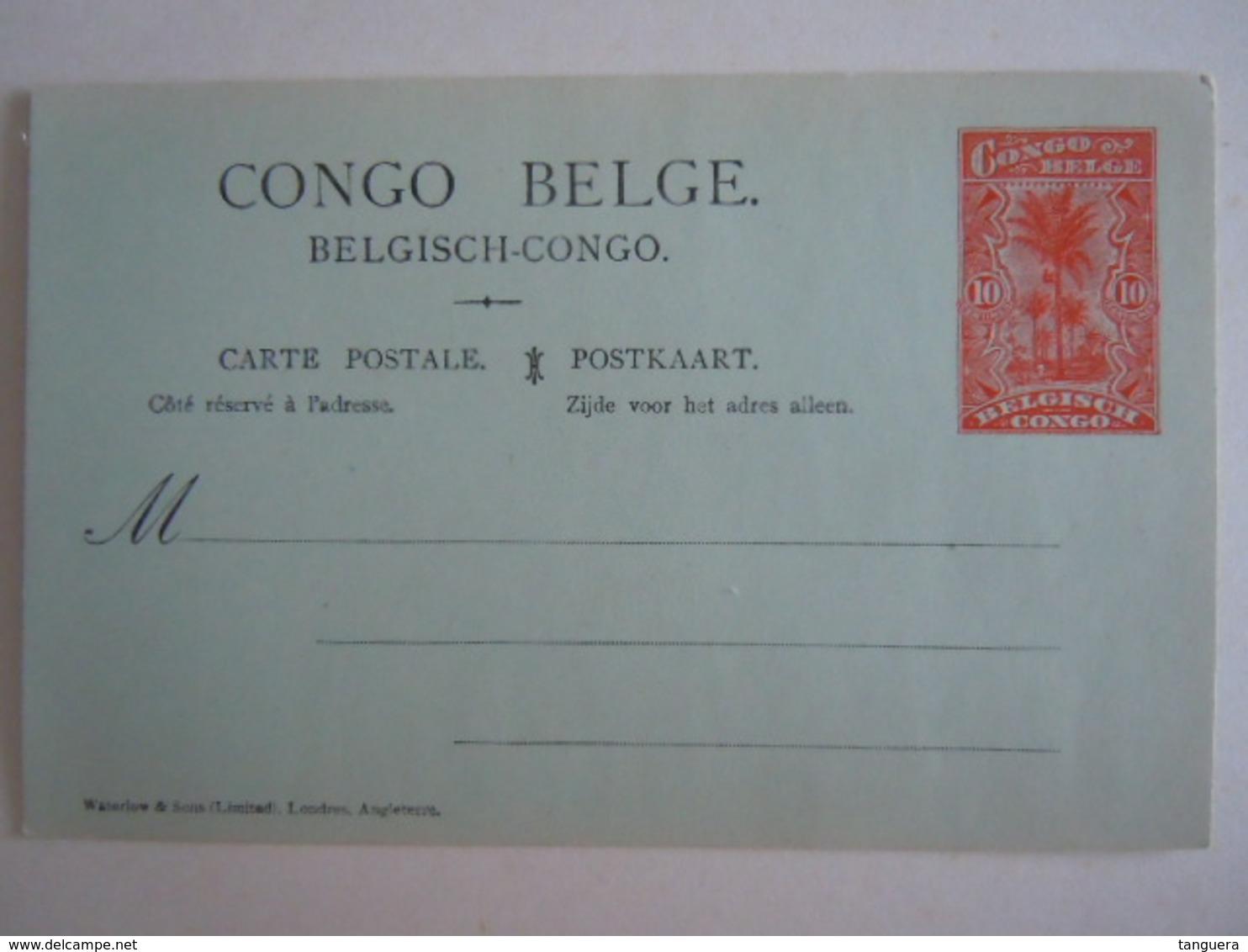 Congo Belge Belgische Congo Carte Postale Stationary Entier Postal 10 Centimes Palmiers - Ganzsachen