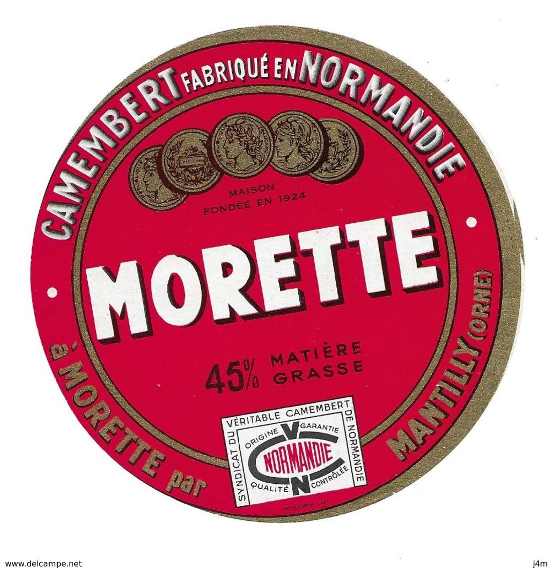 ETIQUETTE De FROMAGE..CAMEMBERT Fabriqué En NORMANDIE..Morette à MORETTE Par MANTILLY (Orne 61) - Cheese