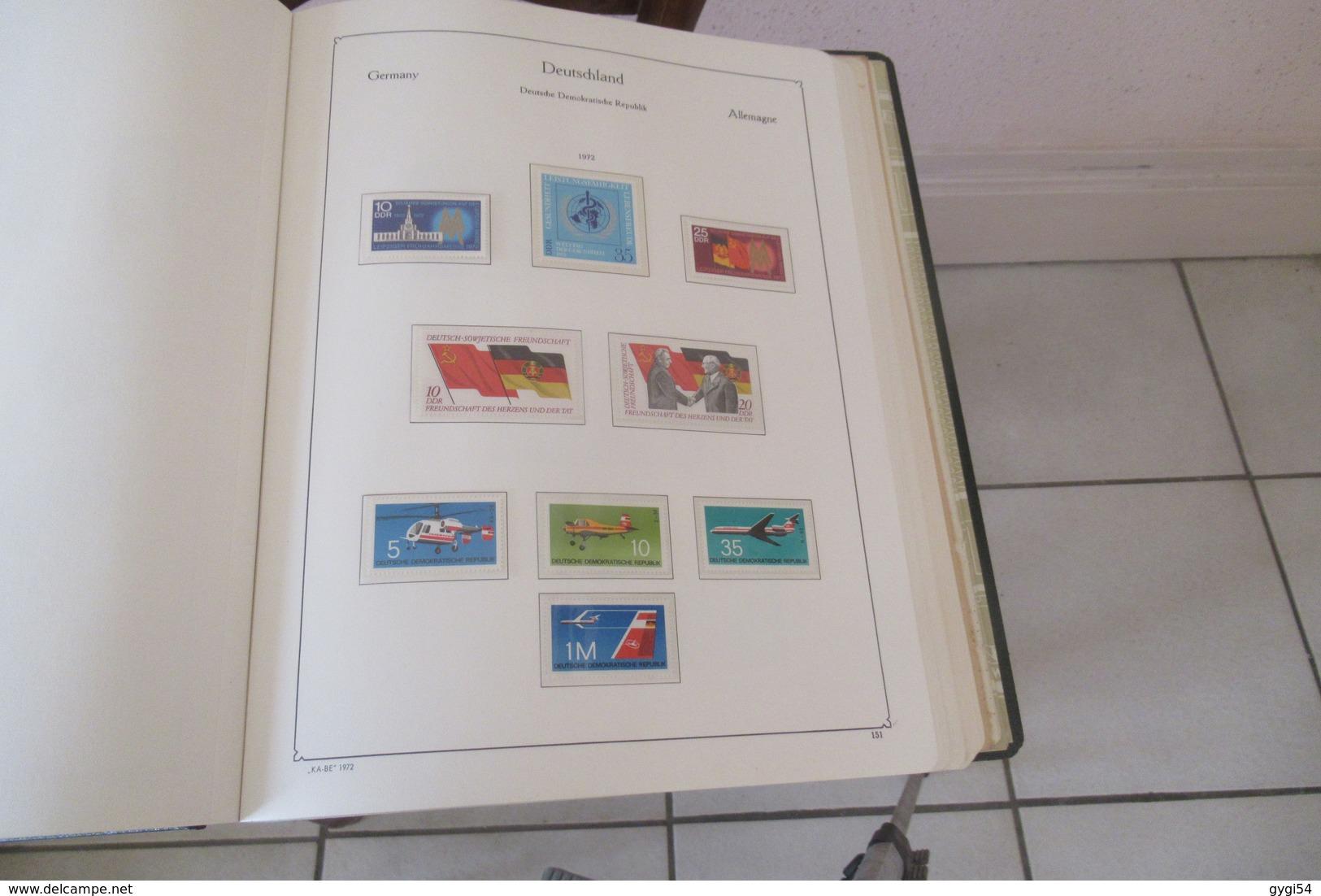 Allemagne  DDR  1970 - 1974  N** MNH  Dans Son Album Kabé  61 Scans - Stamps