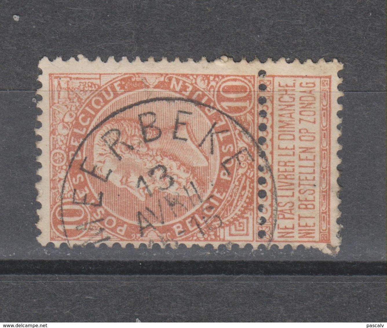 COB 57 Oblitération Centrale MEERBEKE - 1893-1900 Schmaler Bart