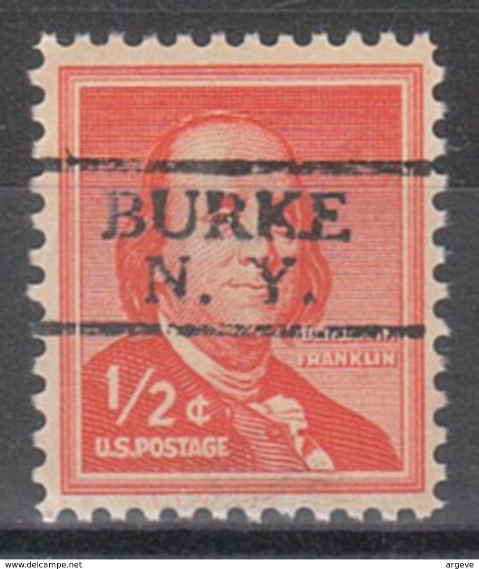 USA Precancel Vorausentwertung Preo, Locals New York, Burke 728 - Préoblitérés