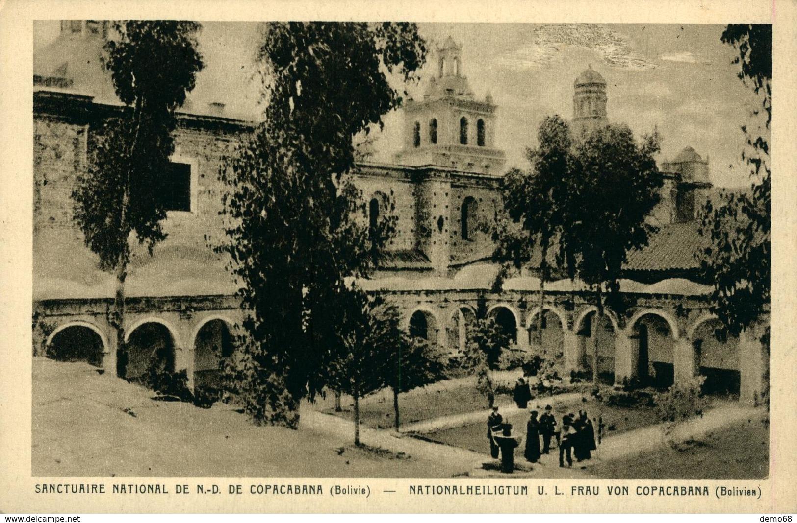Bolivie Sanctuaire National De Notre Dame De Copacabana  National Hailigtum Ed Braun Mulhouse Dornach - Missions