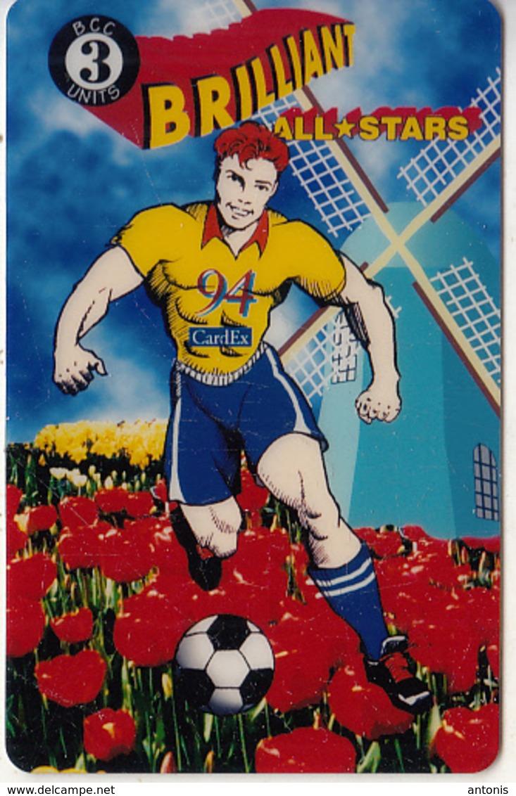 USA - All Stars Soccer, CardEx 94 Amsterdam, Brilliant Promotion Prepaid Card, Tirage 10000, 09/94, Used - Stati Uniti