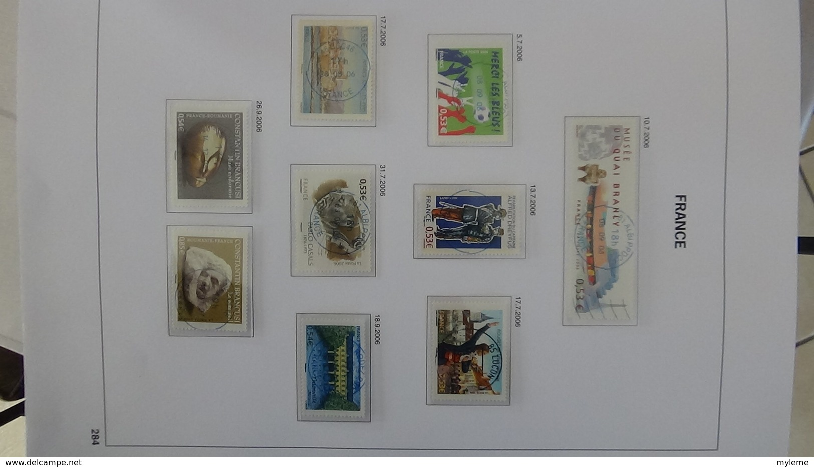 B443 Collection France En DAVO Oblitéré 2004 à 2006 (toutes Les Feuilles Sont Présentes). A Saisir !!! - Timbres