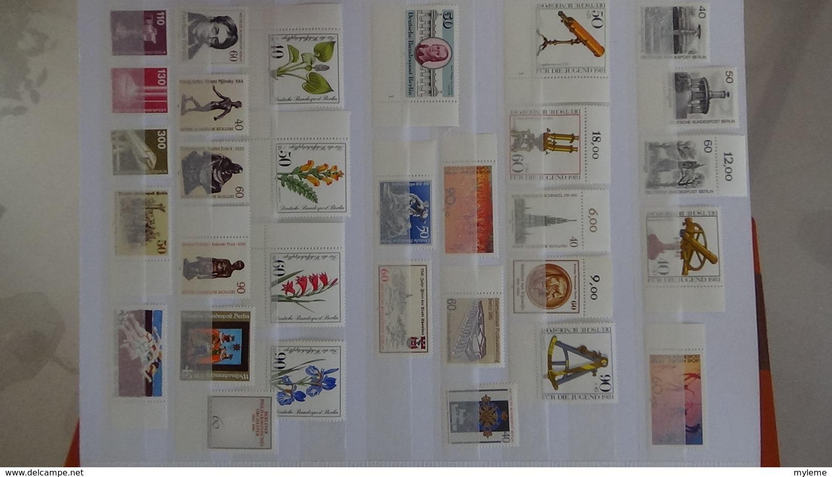 B442 Collection Allemagne Berlin Et Orientale En Timbres Et Blocs **. A Saisir !!! - Stamps