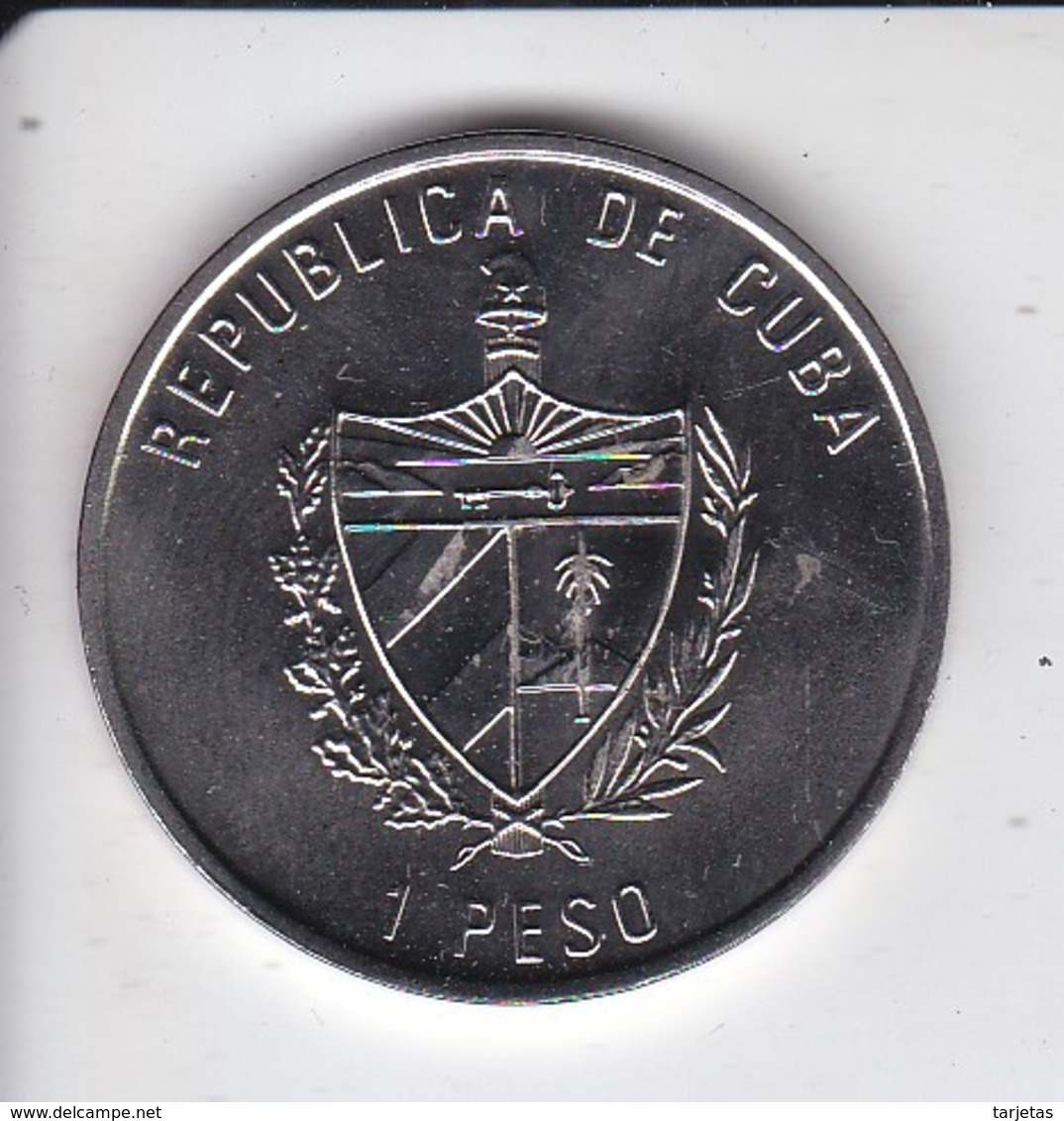 MONEDA DE CUBA DE 1 PESO DEL AÑO 2001 FLORA CUBANA (COIN) ORQUIDEA-ORCHID-FLOR-FLOWER - Cuba