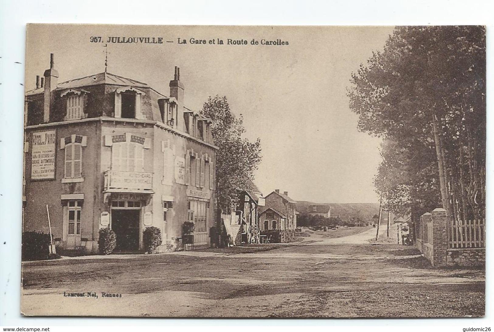 Jullouville , La Gare Et La Route De Carolles - France