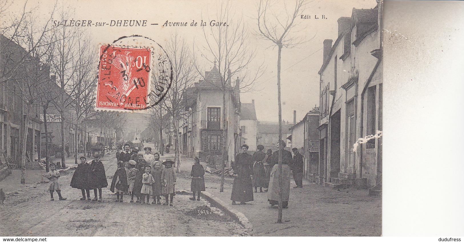 SAINT LEGER SUR DHEUNE    AVENUE  DE LA GARE - Autres Communes
