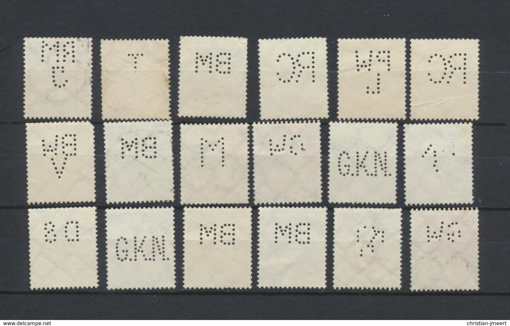 Perforés   Perfins   Reich  - Firmenlochung  -lot Important De 173 Timbres - Voir Explications - Allemagne