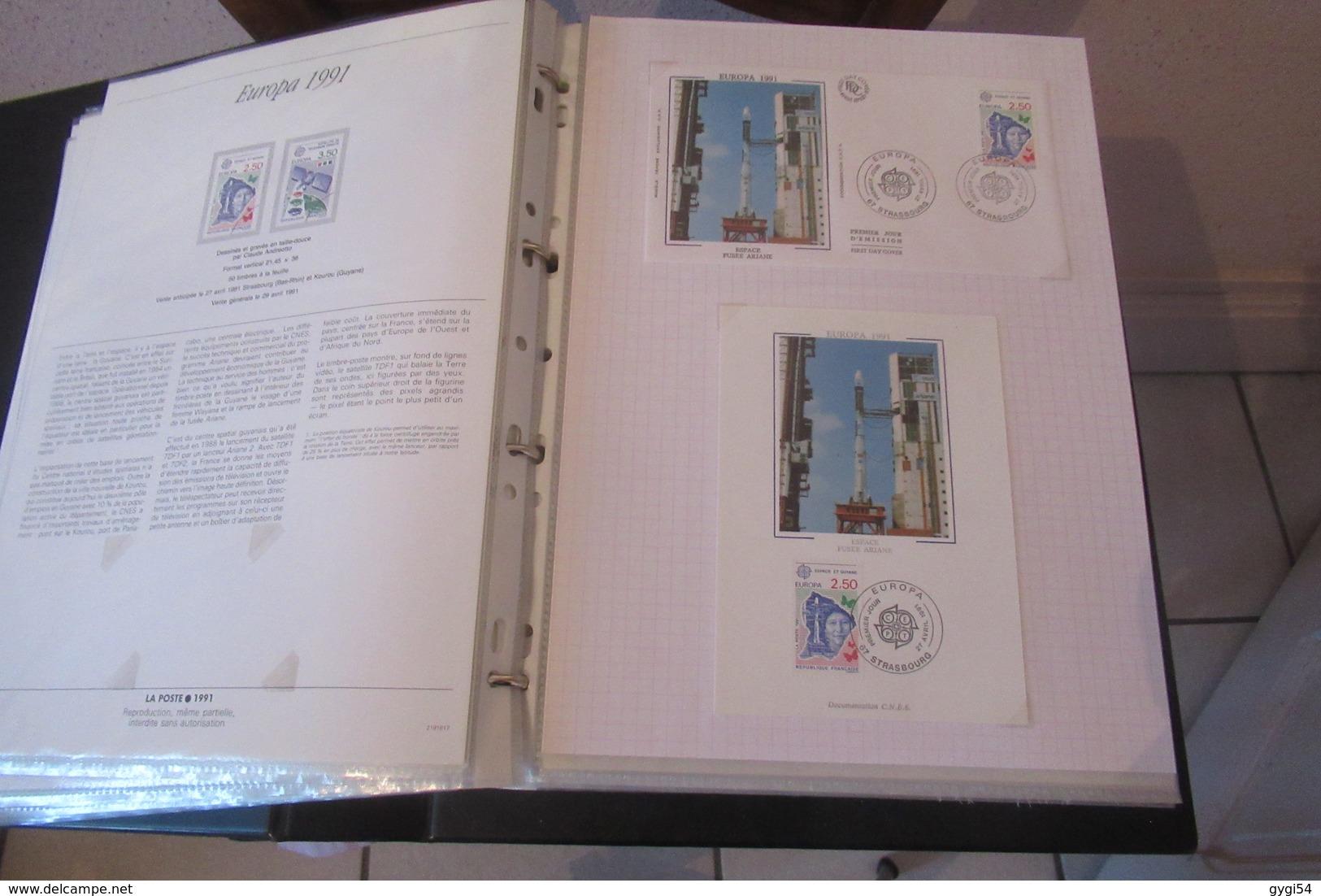 France 1991  1 Notice  1 1er Jour , Une Carte Max  Sur 40 Scans - Timbres