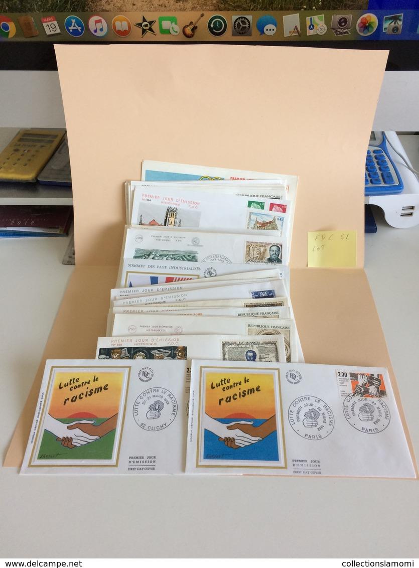 Lot FDC De 51  Voir Photos Des Année 60 - 70 -80 - Collections (sans Albums)