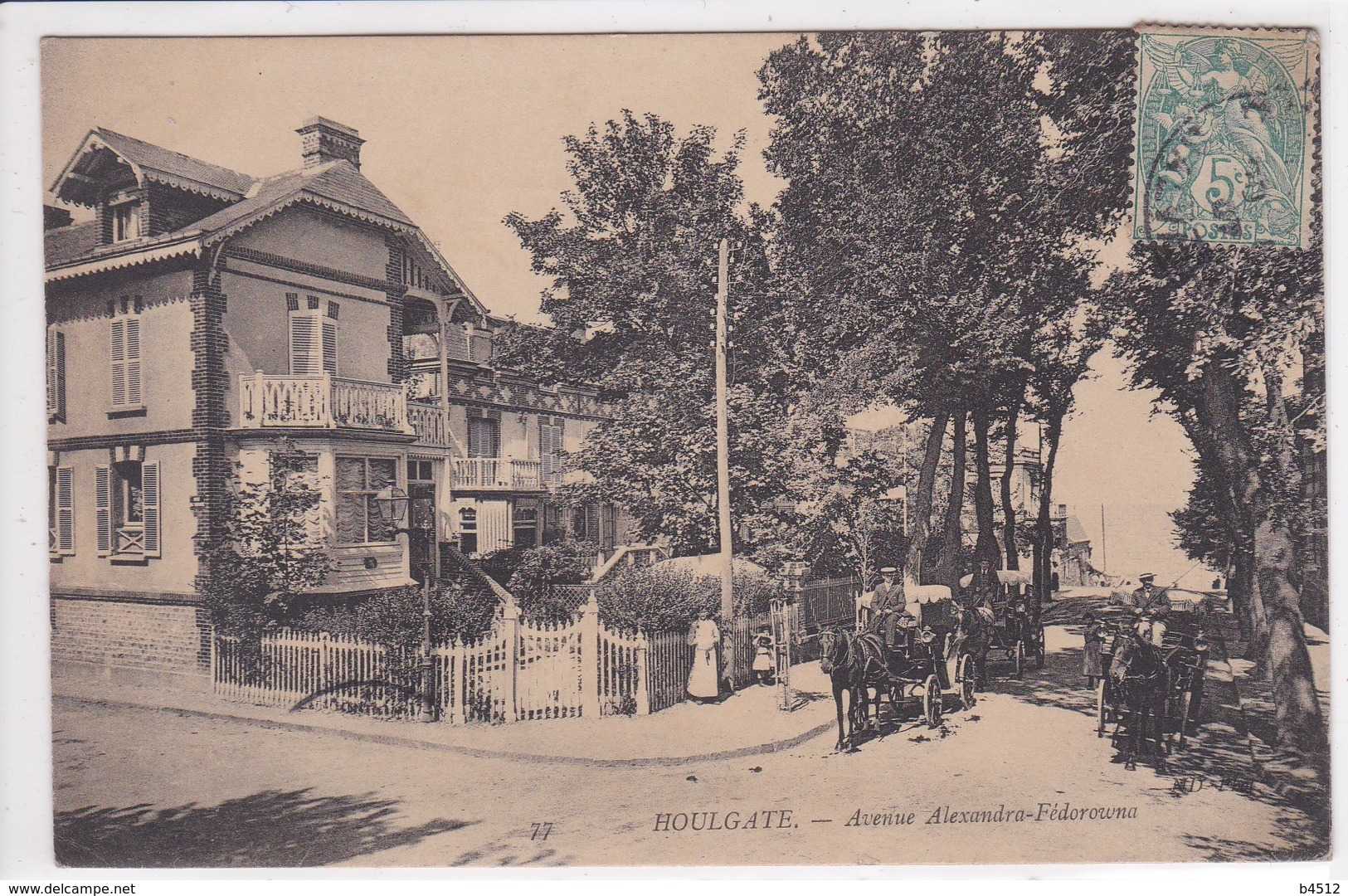 14 HOULGATE Avenue Alexandra Fédorowna ,attelage Calèche Avec Cocher - Houlgate