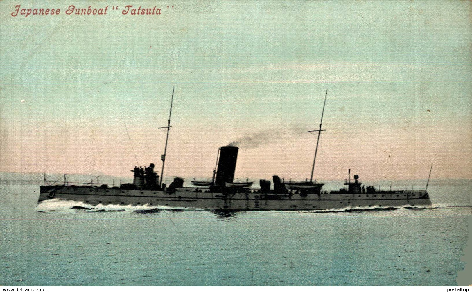 "Japanese Gunboat ""Jatsuta""  Barco. Ship. Naviere - Guerra"