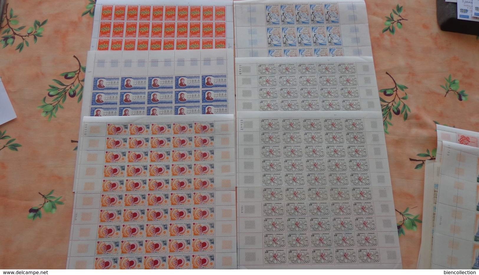 Fance 58 Feuilles Complètes 1972/1973 Faciale 1562 Francs = 238€ - Feuilles Complètes