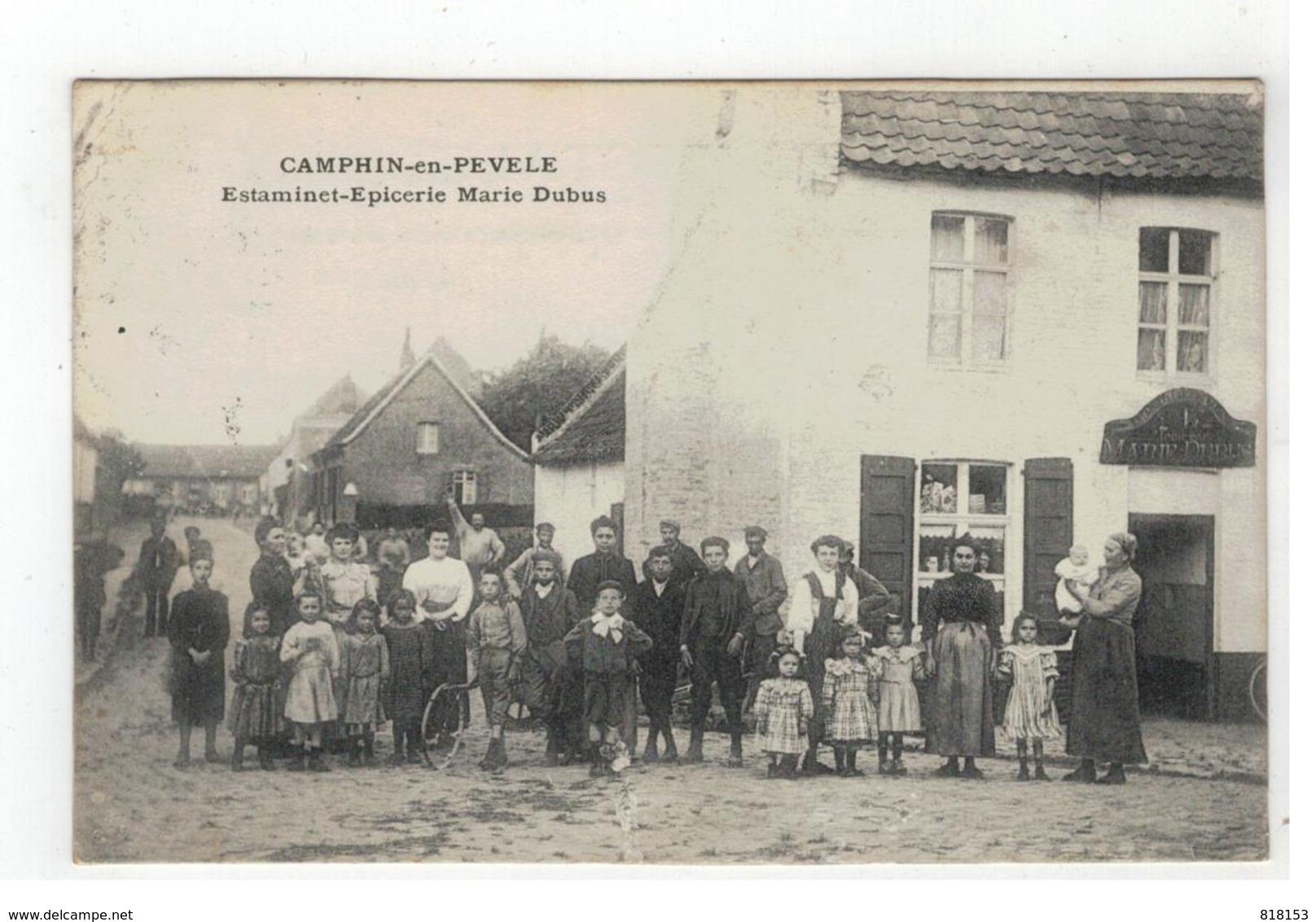 CAMPHIN-en-PEVELE   Estaminet-Epicerie Dubus 1911 - France