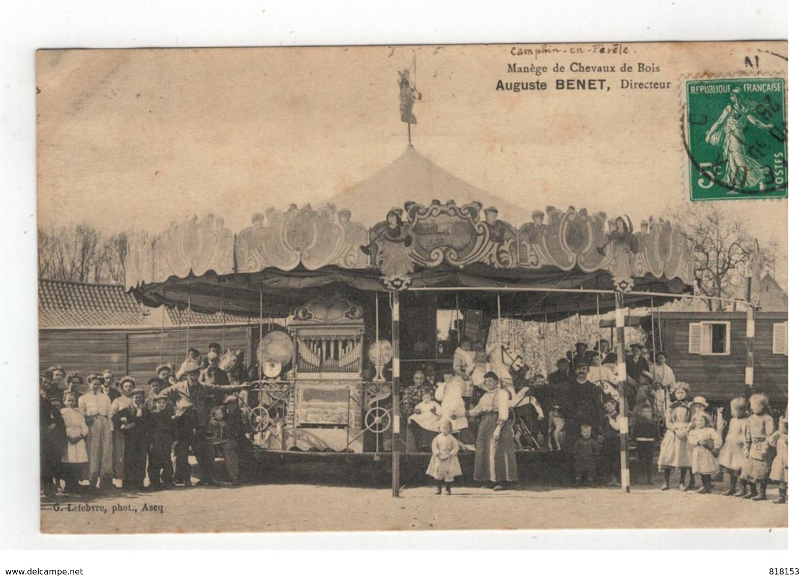Camphin-en-Pévèle  Manège De Bois  Auguste BENET,Directeur 1913 - Autres Communes