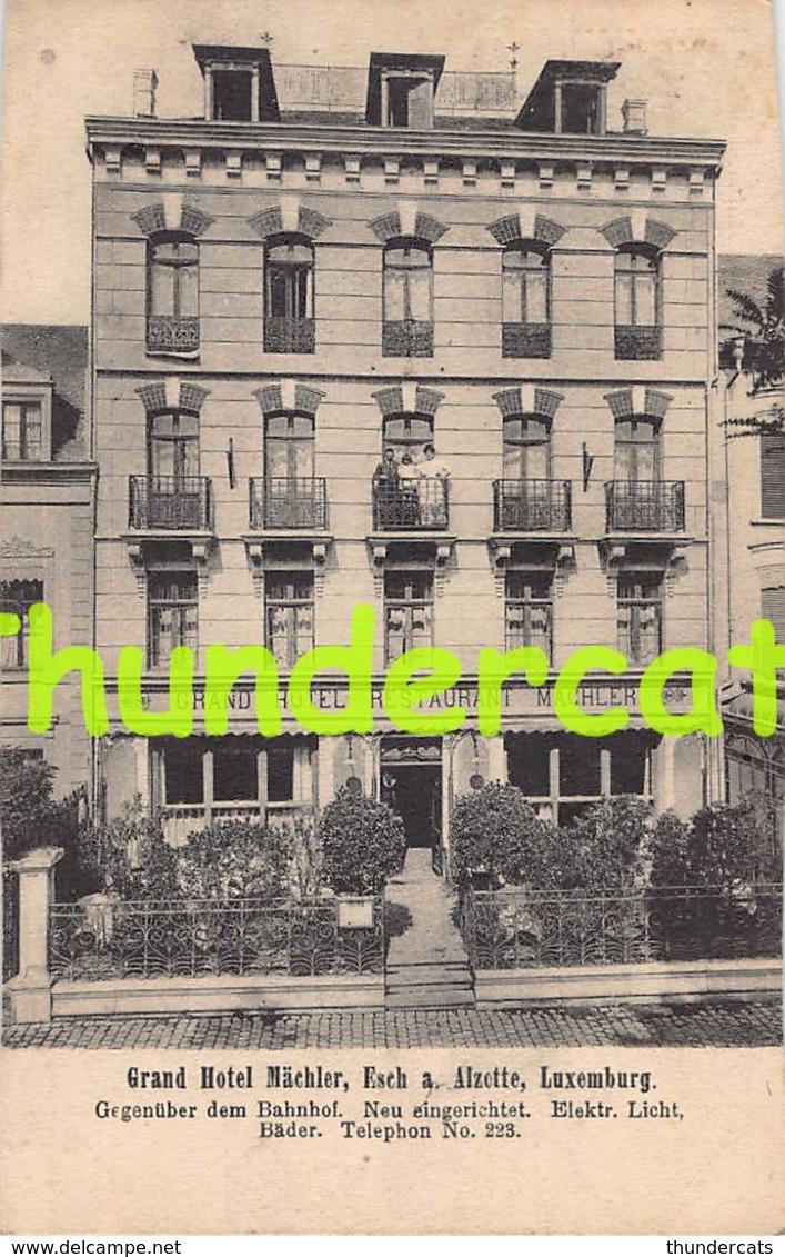 CPA  LUXEMBOURG  ESCH SUR ALZETTE GRAND HOTEL MACHLER ( CARTE COUPEE - TRIMMED CARD ) - Esch-sur-Alzette