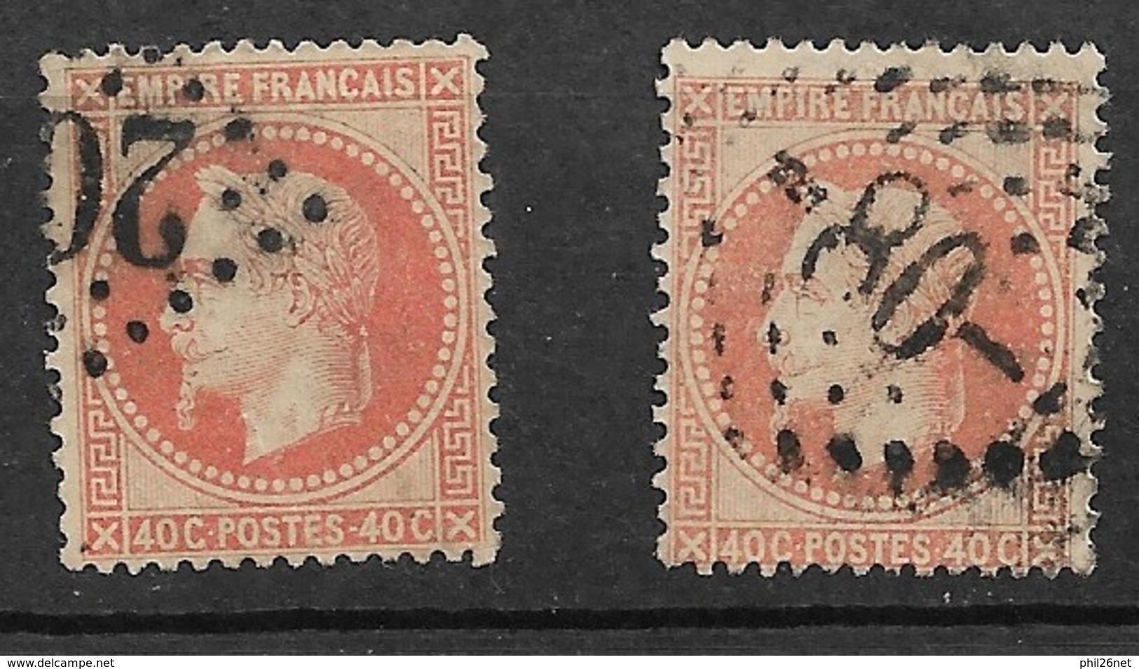 France  N°  31 Et 31b    Oblitérés  B/  TB   Gros Chiffres   Soldé  à Moins De 10  % ! ! ! - 1863-1870 Napoleon III With Laurels
