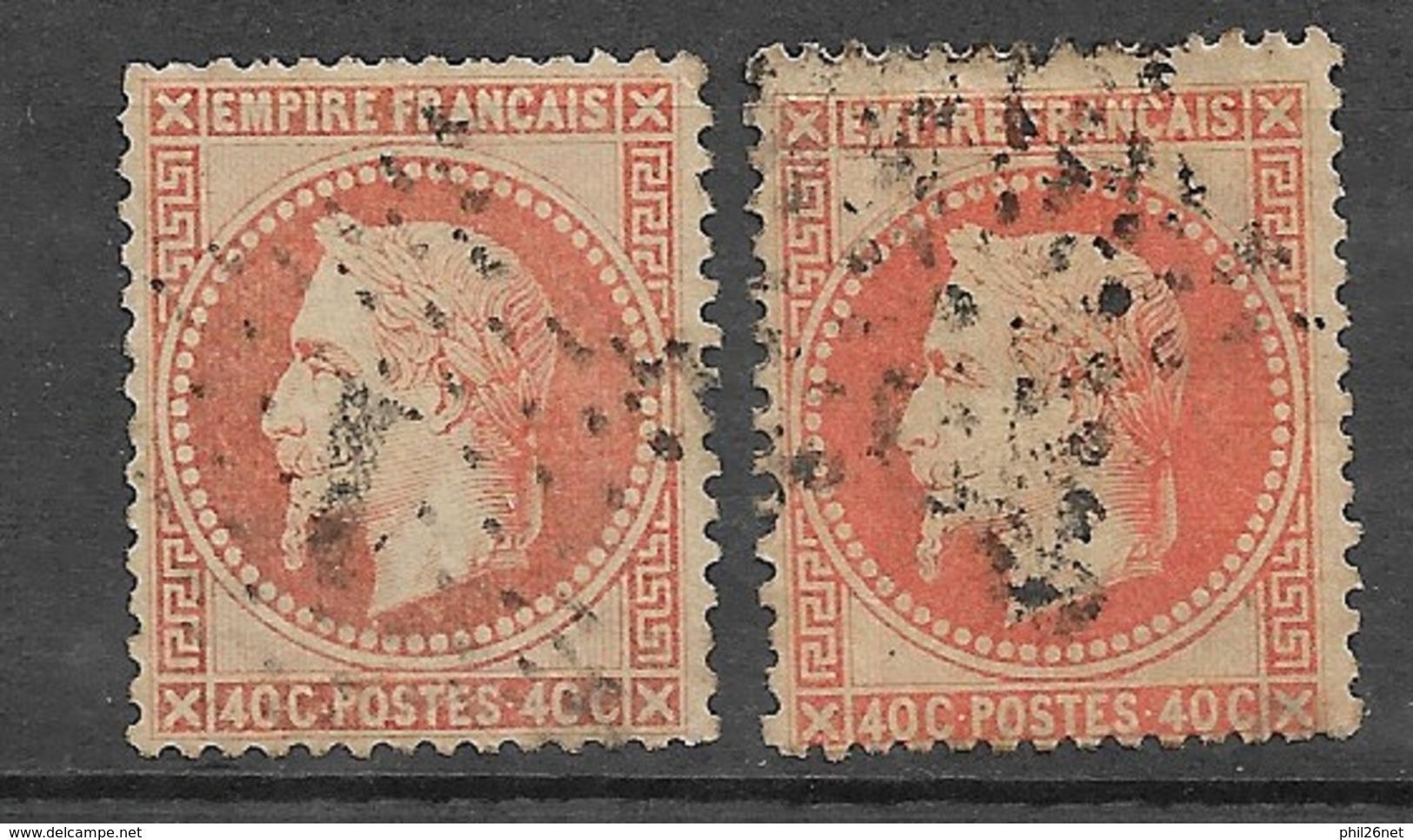 France  N°  31 Et 31b    Oblitérés  B/  TB étoiles De Paris    Soldé  à Moins De 10  % ! ! ! - 1863-1870 Napoleon III With Laurels