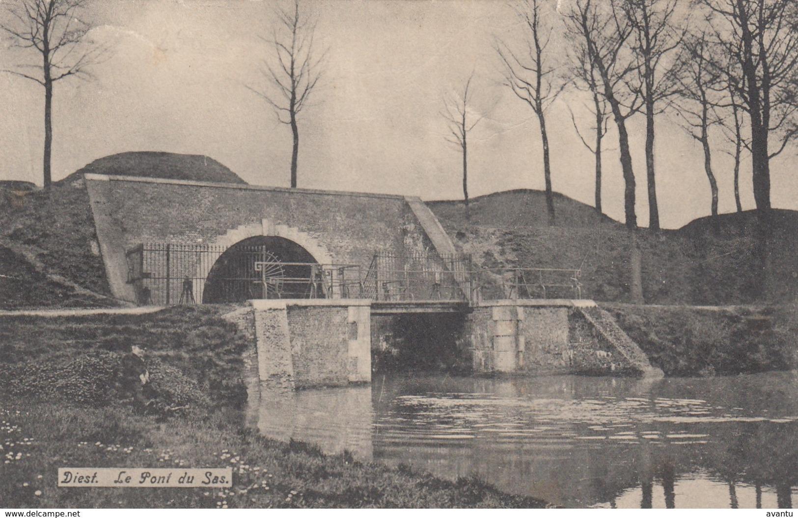 DIEST / DE BRUG AAN HET SAS 1908 - Diest