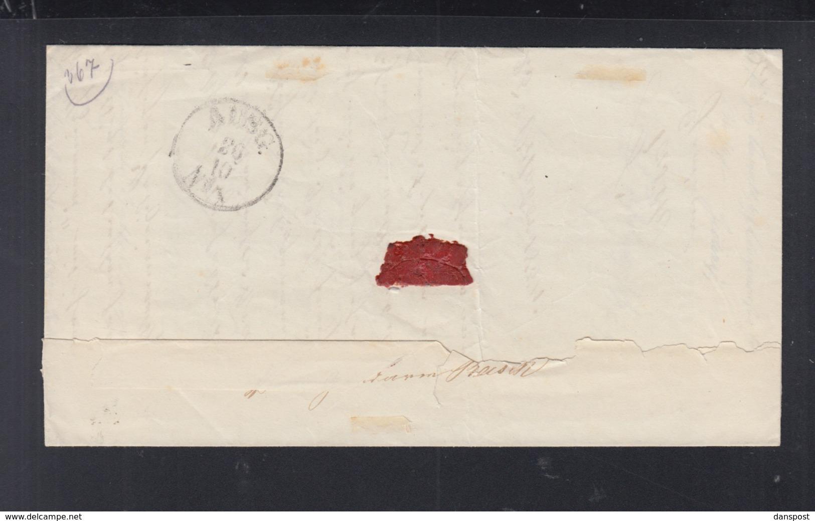 Polen Poland Faltbrief Zielenzig 1854 - Preussen