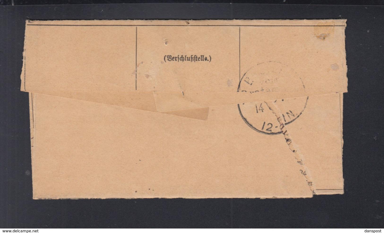 Elsass Faltbrief Strassburg Einnehmerei Nach Berlin - Deutschland