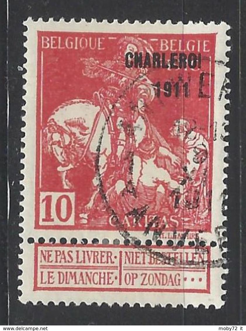 Belgio - 1911 - Usato/used - Caritas - Mi N. 88 III - 1910-1911 Caritas