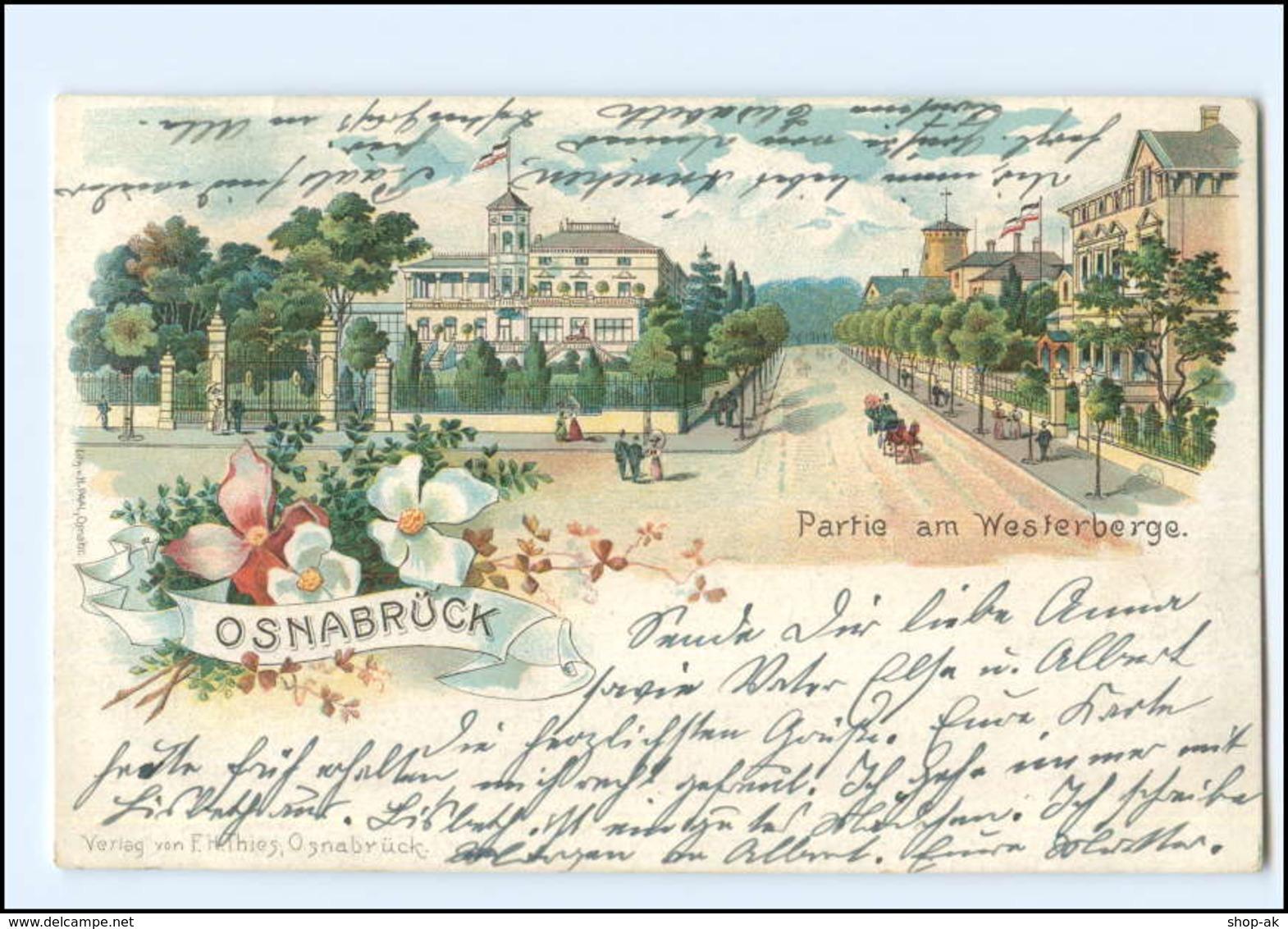 XX009025/ Gruß Aus Osnabrück Westerberge  Litho AK 1902 - Deutschland